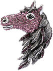 Big horse stretch ring bling scarf jewelry antique gold silver 3Q gift for mom