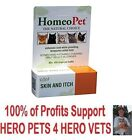 HomeoPet Feline Skin and Itch Natural Itching/Scratching/Chewing/Allergies Cat