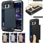Protective Bumper Back Slide Card Holder Case Cover for Samsung Galaxy S8 / S8+