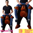 Mens Gorilla Costume Shoulder Carry On Piggy Back Ride Me Zoo Party Mascot