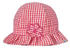 Baby Girls Gingham Sun Hat Pink & White Daisy Summer Cotton Bucket Frill Cap