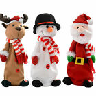 Musical Jumping and Singing Santa Snowman Reindeer Christmas Decoration