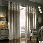 Kylie Minogue Luxury Designer Curtains Esta Silver Velvet Velour  Eyelet / Ring