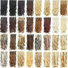 Clip In On 7pcs/set Long Wavy Curly Full Head Hair Extension Synthetic Hairpiece