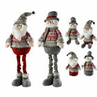 Sitting standing Santa Snowman Table Window Christmas Decorations Grey/Red