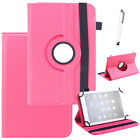 """Universal 360 Rotating Stand Case Protetive Leather Cover For 7"""" 10.1"""" Tablet PC"""