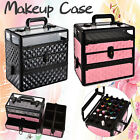 Large Travel  Beauty Cosmetic Makeup Vanity Case Nail Art Storage Box Carry Bag