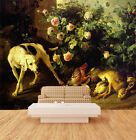 3D Flowers Bed Dog Wall Paper Wall Print Decal Wall AJ WALLPAPER CA