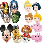 Girls Boys Kids 6 Piece Paw Patrol Peppa Disney Marvel Birthday Loot Bag Mask