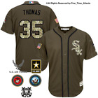 NEW Frank Thomas Chicago White Sox Mens Salute to Service Military Camo Jersey