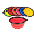 Cat Food Bowl Set Cute & Portable Dish Silicone Collapsible For Water Dog Feed