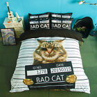 Bad Cat Animal Single Queen King Size Quilt/Duvet/Doona Cover Set Sheet Fitted