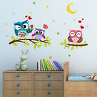 Внешний вид - Lovely Owl Family Vinyl Wall Sticker Kids Bedroom Nursery Removable Decal