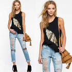 Fashion Women Summer Vest Tops Sleeveless Blouse Casual Tank Tops T-Shirt NEW