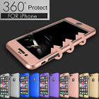 360° Protection Acrylic Hard Case+Tempered Glass Cover For Apple iPhone 6S 7Plus