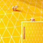 160cm YELLOW Meter/Fat Quarter/FQ Cotton Fabric Geometric Triangle Sewing Craft