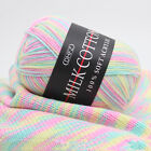 Mixed Job Lot 23 colour 50g DK knitting Crochet Milk soft Baby cotton wool Yarn