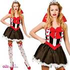 New Queen of Hearts Sexy Ladies Adult Costume Hen Party Alice Wonderland UK 8-20