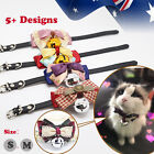 1x 2x Pet Cat Dog Collar Cute Bow Tie adjustable XS S M Girl Puppy Unisex Makeup
