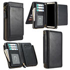Detachable Magnetic Separable Leather Wallet Case Card Case for Samsung S8