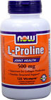 NOW FOODS L-Proline 500mg - 120 Vcaps - Cardiovascular