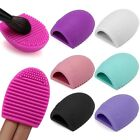 Egg Heart LOVE Shape Cleaning Scrubber Pad Glove MakeUp Brush  Washing Cleaners