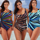 Women Push Up Bra Plus Size One Piece Monokini Swimsuit Bathing Swimwear Bikini