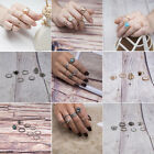 Vintage Women Jewelry Gold Silver Plated Ring Above Knuckle Ring Set