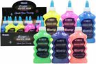 BAZIC Glitter Glue 200ml Squeeze Bottle Choose From 12 Colors Art Craft NEW