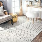 Kyпить nuLOOM Modern Trellis Moroccan Blythe Area Rug Grey Cream | Amazon Top Seller!! на еВаy.соm
