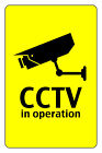CCTV IN OPERATION SIGN, 200mm x 300MM BARGAIN. WARNING SIGNS 3MM THICK FOAMEX
