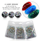 ROUND GLITTER PAILLETTE DOT SHAPE Mini Sequins Confetti Loose Nail Art 3D Neon #