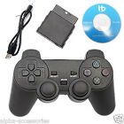 Drahtlos 2.4G USB Spielcontroller Joystick für PS2 PS3 PC Laptop Android TV UK