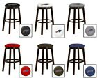 "BUFFALO BILLS NFL 24"" & 28"" ESPRESSO WOOD METAL BAR MAN CAVE SHE SHED BAR STOOL"