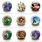 9-45PCS Super Mario Buttons Round Pins Brooch Badges 30mm as Kid Party Best Gift