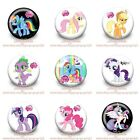9-45PCS Little Pony Buttons Round Pins Brooch Badges 30mm as Kid Party Best Gift