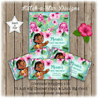 BABY MOANA 1ST FIRST BIRTHDAY PARTY PERSONALISED CHOCOLATE WRAPPERS X 10