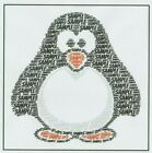 PERSONALISED PENGUIN BIRTHDAY/CHRISTMAS CARD - BOY/GIRL/CHILD/ADULT - ANY NAME