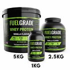 Whey Protein 80% Protein Muscle Growth All Flavours 1kg 2.5kg 5kg All Flavours