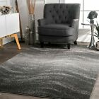nuLOOM Contemporary Modern Waves Design Area Rug in Gray фото