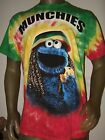Nwt Men's The Cookie Monster Munchies Reggae Sesame Street Tee Shirt Tye Dye Tie