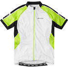 Sportive Ladies / Women's Short Sleeve Cycling Jersey, White / Green Shoots