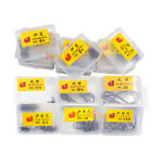 1/5/10 Box Fishing Hook High Carbon Steel Sharpened Fishing Hook with Many Sizes