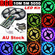10M 5M RGB 5050 SMD Flexible LED Strip Light + IR Remote Control + Power Adapter