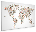 Cats Map of the World Map Box Canvas and Poster Print (2545)
