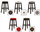 "ARIZONA DIAMONDBACKS 24"" & 28"" ESPRESSO WOOD METAL GAME ROOM MAN CAVE BAR STOOL"