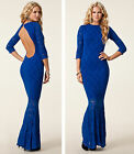 BNWT HONOR GOLD Lace New £75 Fishtail Club Party Backless Long Gown Maxi Dress