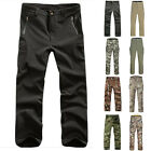 Men Military Outdoor Hiking Soft Shell Waterproof Camo Pants Trousers Tactical