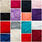 "Plain Cotton Stretch Sateen Fabric Material - 146cm (57"") wide, 15 Colours"