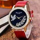 Luxury Women Stainless Steel Analog Quartz Wrist Watch Jewelled Bracelet Watches